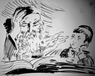 תמונת אב ובן, זכויות היוצר שייכות למיכל הלפרין