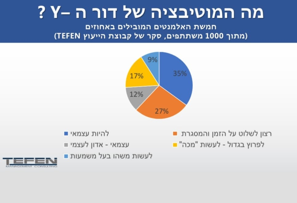 עצמאים בישראל - סקר של מכון המחקר של TEFEN